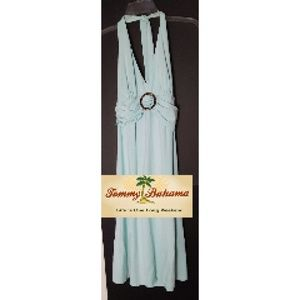 Tommy Bahama Midi Halter Dress Cane Accent Grn SzM